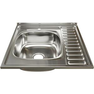 Кухонная мойка Mixline 60х60 0,6 левая, выпуск 3 1/2 (4630030631484)