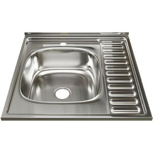 Кухонная мойка Mixline 60х60 0,8 левая, выпуск 3 1/2 (4630030631606)
