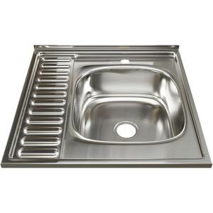 Кухонная мойка Mixline 60х60 0,8 правая, выпуск 3 1/2 (4630030631637)