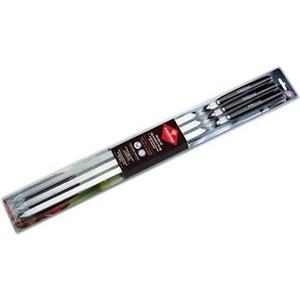 Набор шампуров Forester больших (55 см) в блистере 6шт с деревянными ручками