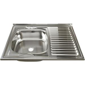 Кухонная мойка Mixline 60х80 0,4 левая, выпуск 1 1/2 (4630030631309)