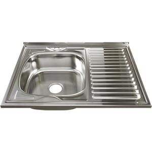 Кухонная мойка Mixline 60х80 0,6 левая, выпуск 3 1/2 (4630030631545)