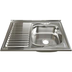 Кухонная мойка Mixline 60х80 0,6 правая, выпуск 3 1/2 (4630030631576)