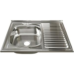 Кухонная мойка Mixline 60х80 0,8 левая, выпуск 3 1/2 (4630030631873)