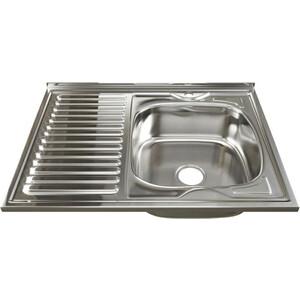 Кухонная мойка Mixline 60х80 0,8 правая, выпуск 3 1/2 (4630030631903)