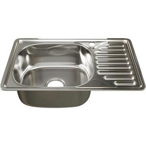 Кухонная мойка Mixline 42х66 врез 0,6 левая, выпуск 3 1/2 (4630030632443)