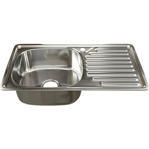 Кухонная мойка Mixline 42х76 врез 0,6 левая, выпуск 3 1/2 (4630030632382)