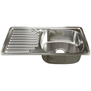 Кухонная мойка Mixline 42х76 врез 0,6 правая, выпуск 3 1/2 (4630030632412)