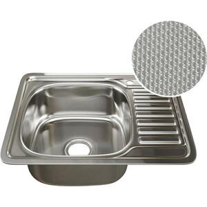 Кухонная мойка Mixline 48х58 врез 0,8 левая, выпуск 3 1/2 ДЕКОР (4620031442417)