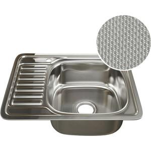 Кухонная мойка Mixline 48х58 врез 0,8 правая, выпуск 3 1/2 ДЕКОР (4620031442424)