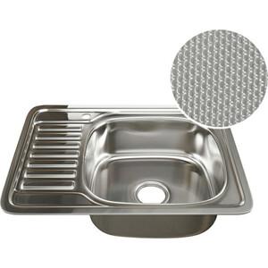 Кухонная мойка Mixline 50х65 врез 0,8 правая, выпуск 3 1/2 ДЕКОР (4620031442448)
