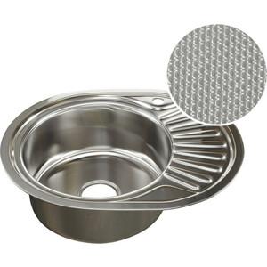 Кухонная мойка Mixline 45х57 0,8 левая, выпуск 3 1/2 ДЕКОР (4620031442363)