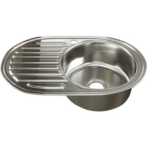Кухонная мойка Mixline 50х77 0,6 правая, выпуск 3 1/2 (4630030632146)