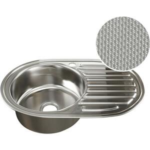 Кухонная мойка Mixline 50х77 0,8 левая, выпуск 3 1/2 ДЕКОР (4620031442387)