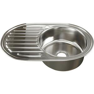 Кухонная мойка Mixline 50х77 0,8 правая, выпуск 3 1/2 (4620031447191)