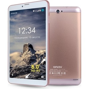 Планшет Ginzzu GT-8010 Rose Gold планшет ginzzu gt 8010 rev 2 1gb 16gb 3g 4g android 6 0 золотистый [00 00000836]