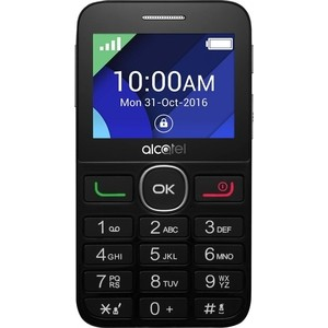 Мобильный телефон Alcatel OneTouch 2008G Black/Metal Silver радиотелефон alcatel origin black