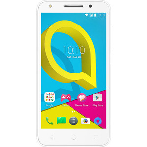 Смартфон Alcatel U5 4G 5044D белый смартфон alcatel idol 5 4g ds metal blackb 6058d