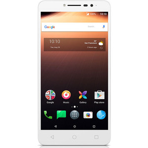 Смартфон Alcatel A3 XL 9008D 8Gb White Silver смартфон alcatel a3 xl 9008d sideral gray silver mediatek mt8735b 1 гб 8 гб 6 1280x720 dualsim 3g 4g 8mpix 5mpix bt android 7 0