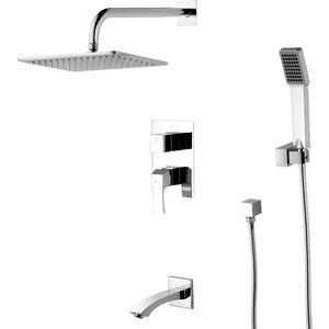 Душевая система Lemark Unit для ванны и душа, встраиваемый (LM4522C) смеситель lemark unit lm4545c