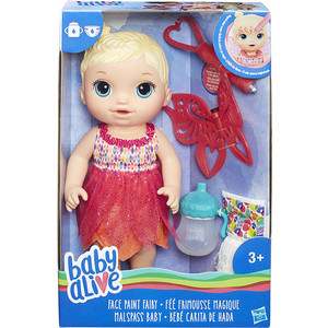 Интерактивная кукла Hasbro Baby Alive Малышка - Фея B9723EU4 оружие игрушечное hasbro hasbro бластер nerf n strike mega rotofury