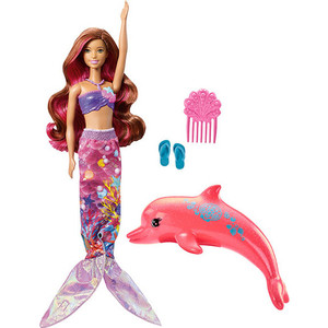 Mattel Barbie Кукла Barbie Морские приключения Русалка -трансформер FBD64 mattel кукла челси barbie