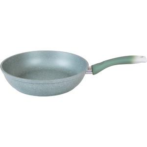 Сковорода d 24 см Kukmara Фисташковый мрамор (смф241а) сковорода для блинов kukmara фисташковый мрамор с антипригарным покрытием диаметр 24 см