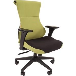 Купить со скидкой Офисное кресло Chairman Game 10 ткань черный/зеленый