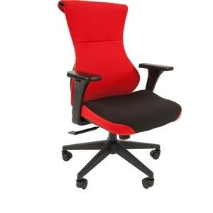 Офисное кресло Chairman Game 10 ткань черный/красный офисноекресло chairman game 12 черный
