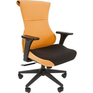 Офисное кресло Chairman Game 10 ткань черный/оранжевый офисноекресло chairman game 12 черный