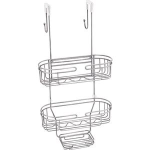 Полка овальная двухэтажная для душевой кабины Fixsen хром (FX-861)