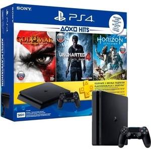 Игровая приставка Sony PlayStation 4 500Gb + Horizon Zero Dawn + God Of War 3 + Uncharted 4 + PS Plus 3мес