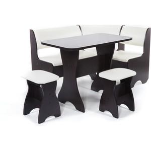Набор мебели для кухни Бител Тюльпан - однотонный (венге, Борнео крем, венге) набор мебели для кухни бител орхидея однотонный венге борнео умбер венге