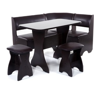 Набор мебели для кухни Бител Тюльпан - однотонный (венге, Борнео умбер, венге) набор мебели для кухни бител орхидея однотонный венге борнео умбер венге
