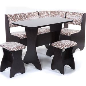 Набор мебели для кухни Бител Тюльпан - однотонный (венге, замша 623, венге) набор мебели для кухни бител тюльпан однотонный венге борнео умбер венге