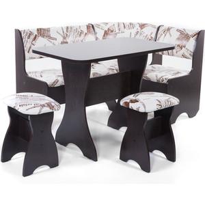 Набор мебели для кухни Бител Тюльпан - однотонный (венге, замша 642 Париж, венге)