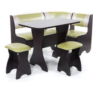 Набор мебели для кухни Бител Тюльпан - комби (венге с-105 + с-101 венге) 101 розовый тюльпан