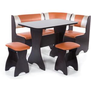 Набор мебели для кухни Бител Тюльпан - комби (венге с-120 + с-101 венге) 101 розовый тюльпан