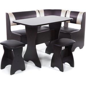 Набор мебели для кухни Бител Тюльпан - комби (венге с-221 + с-101 венге) 101 розовый тюльпан