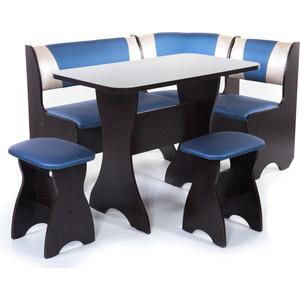 Набор мебели для кухни Бител Тюльпан - комби (венге, терра эффект-114 + с-101 венге) 101 розовый тюльпан