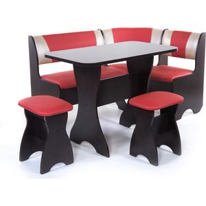 Набор мебели для кухни Бител Тюльпан - комби (венге, терра эффект-112 + с-101 венге) 101 розовый тюльпан
