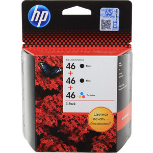 Картридж HP №46 multipack (F6T40AE) defort dps 17n