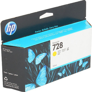 Картридж HP F9J65A №728 жёлтый 130 мл. картридж hp 728 f9j68a matte black 300 мл