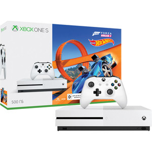 Игровая приставка Microsoft XBox One S 500Gb белая + Forza Horizon 3 + DLC (ZQ9-00212) black vertical base stand holder mount cradle for microsoft xbox one console new