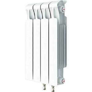 Радиатор отопления RIFAR MONOLIT VENTIL 500 MVR 4 секций биметаллический нижнее правое подключение алюминиевый радиатор rifar alum ventil avr 500 14