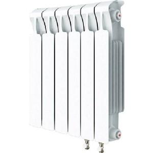 Радиатор отопления RIFAR MONOLIT VENTIL 500 MVR 6 секций биметаллический нижнее правое подключение алюминиевый радиатор rifar alum ventil avr 500 14