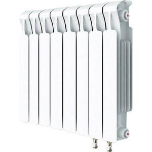 Радиатор отопления RIFAR MONOLIT VENTIL 500 MVR 8 секций биметаллический нижнее правое подключение алюминиевый радиатор rifar alum ventil avr 500 14