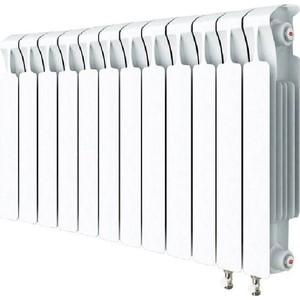 Радиатор отопления RIFAR MONOLIT VENTIL 500 MVR 12 секций биметаллический нижнее правое подключение алюминиевый радиатор rifar alum ventil avr 500 14