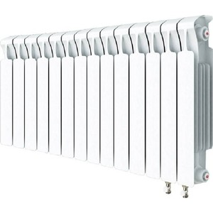 Радиатор отопления RIFAR MONOLIT VENTIL 500 MVR 14 секций биметаллический нижнее правое подключение алюминиевый радиатор rifar alum ventil avr 500 14