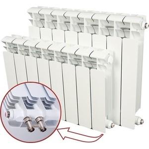 Радиатор отопления RIFAR BASE VENTIL 500 BVR 8 секций биметаллический нижнее правое подключение биметаллический радиатор rifar base ventil bvl 500 08
